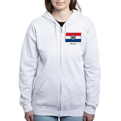 Missouri State Flag Women's Zip Hoodie