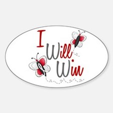 I Will Win 1 Butterfly 2 PEARL/WHITE Decal