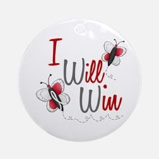 I Will Win 1 Butterfly 2 PEARL/WHITE Ornament (Rou