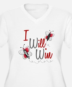 I Will Win 1 Butterfly 2 PEARL/WHITE T-Shirt