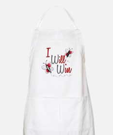 I Will Win 1 Butterfly 2 PEARL/WHITE BBQ Apron