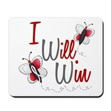 I Will Win 1 Butterfly 2 PEARL/WHITE Mousepad