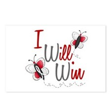 I Will Win 1 Butterfly 2 PEARL/WHITE Postcards (Pa