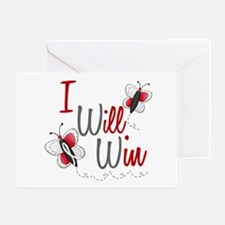 I Will Win 1 Butterfly 2 PEARL/WHITE Greeting Card