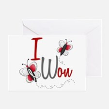 I Won 1 Butterfly 2 PEARL/WHITE Greeting Card