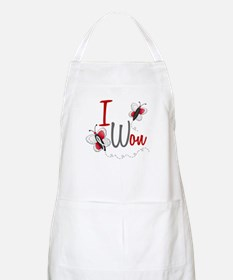 I Won 1 Butterfly 2 PEARL/WHITE BBQ Apron