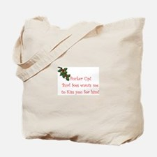 Funny Rudolph the red nose reindeer Tote Bag