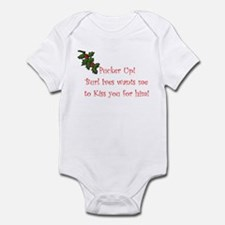 Cute Rudolph the red nose reindeer Infant Bodysuit
