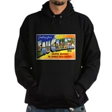 Eau Claire Wisconsin Greeting Hoodie