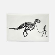 Dinosaur Walk Rectangle Magnet