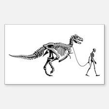 Dinosaur Walk Rectangle Decal