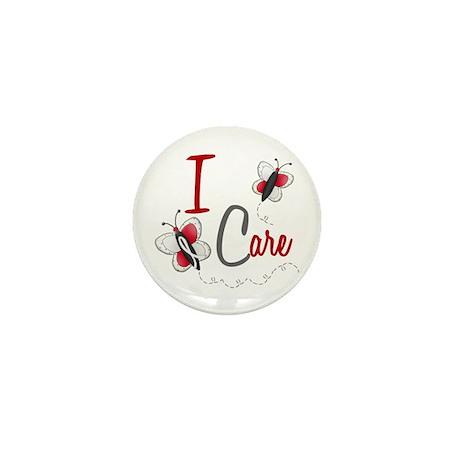 I Care 1 Butterfly 2 PEARL/WHITE Mini Button