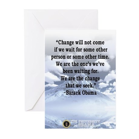 """""""Change will not come..."""" Bar Greeting C"""