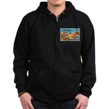 New London Connecticut Greeti Zip Hoodie