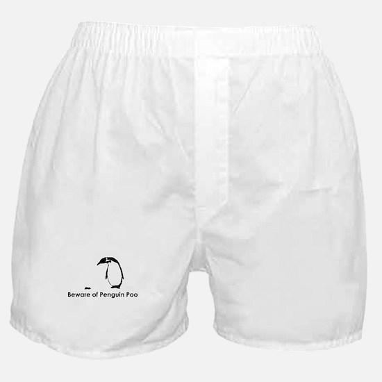 Beware of Penguin Poo Boxer Shorts