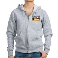 Tampa Florida Greetings Zip Hoodie