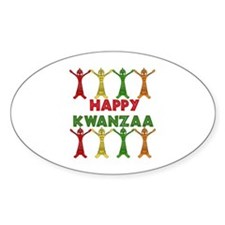 African Dancers Oval Decal