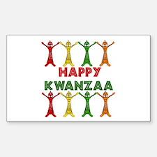 African Dancers Rectangle Sticker 50 pk)