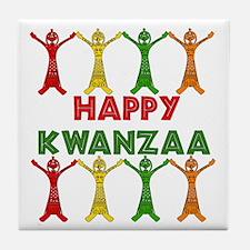 African Dancers Tile Coaster
