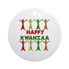 African Dancers Ornament (Round)