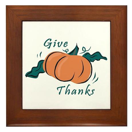 """Give Thanks"" Framed Tile"
