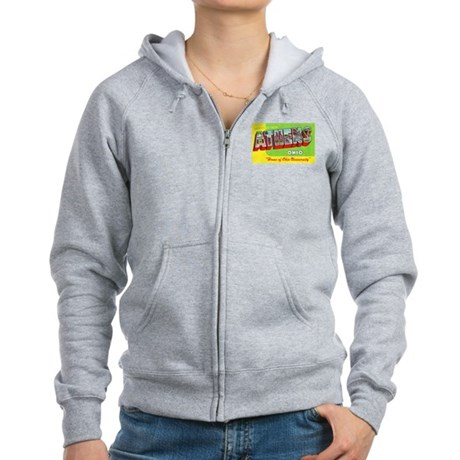 Athens Ohio Greetings Women's Zip Hoodie
