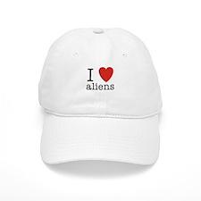 I Heart Aliens Baseball Cap