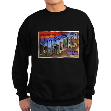 Binghamton New York Greetings Sweatshirt (dark)