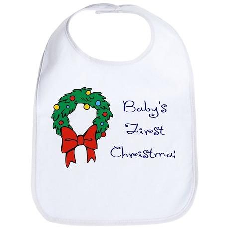 Baby's First Christmas Bib