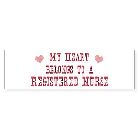 Belongs to Registered Nurse Bumper Sticker