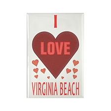 I Love Virginia Beach Rectangle Magnet (100 pack)