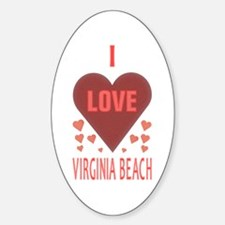 I Love Virginia Beach Oval Decal