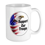 Support Our Troops Large Mug
