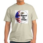 Support Our Troops (Front) Ash Grey T-Shirt