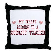 Belongs to Sociology Teacher Throw Pillow