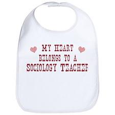 Belongs to Sociology Teacher Bib
