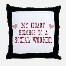 Belongs to Social Worker Throw Pillow