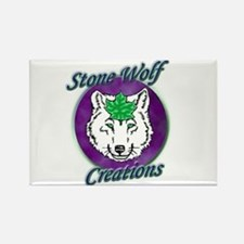 Stone Wolf Creations Rectangle Magnet