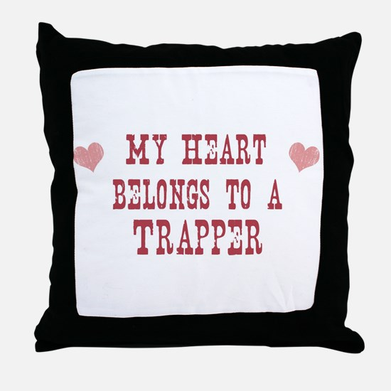 Belongs to Trapper Throw Pillow