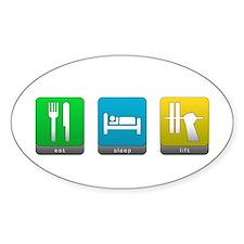 Eat, Sleep, Lift Oval Decal