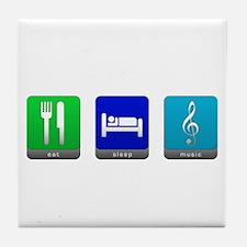 Eat, Sleep, Music Tile Coaster