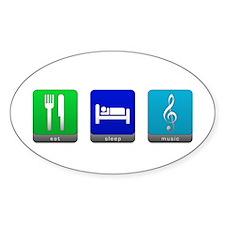 Eat, Sleep, Music Oval Decal