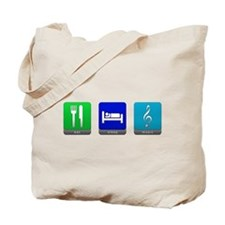 Eat, Sleep, Music Tote Bag