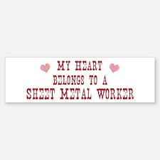 Belongs to Sheet Metal Worker Bumper Bumper Bumper Sticker