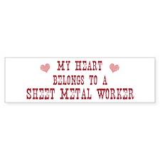 Belongs to Sheet Metal Worker Bumper Bumper Sticker