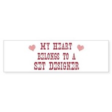 Belongs to Set Designer Bumper Bumper Sticker