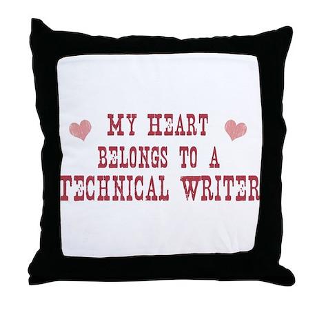 Belongs to Technical Writer Throw Pillow