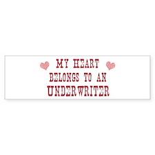 Belongs to Underwriter Bumper Bumper Sticker