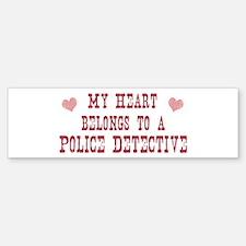 Belongs to Police Detective Bumper Bumper Bumper Sticker