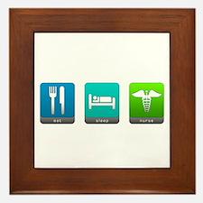 Eat, Sleep, Nurse Framed Tile
